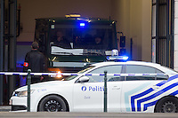 Police in front of Council Chamber during terrorism cases - Brussels