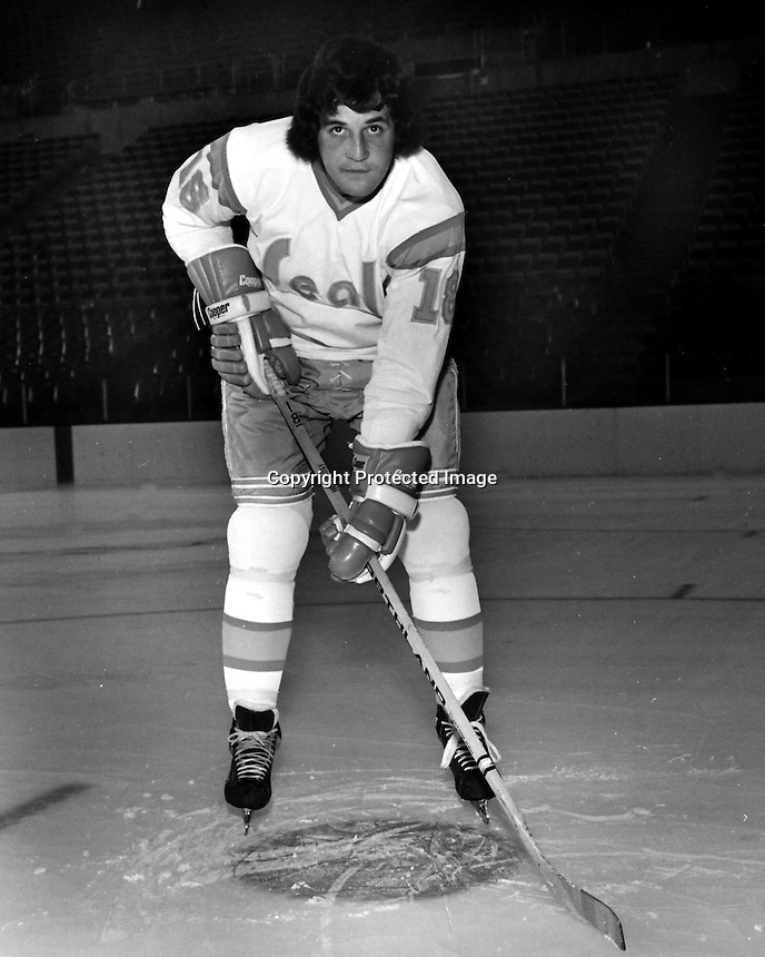 California Golden Seals Dave Hrechkosy, 1974 (photo /Ron Riesterer)