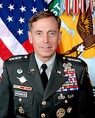 """Tampa, FL - (FILE) -- File photo taken August 20, 2009 of General David H. Petraeus, who assumed command of the United States Central Command in October 2008, after serving for over 19 months as the Commanding General, Multi-National Force-Iraq.  Prior to his tour as MNF-I Commander, he commanded the U.S. Army Combined Arms Center and Fort Leavenworth.  Before that assignment, he was the first commander of the Multi-National Security Transition Command-Iraq, which he led from June 2004 to September 2005, and the NATO Training Mission-Iraq, which he commanded from October 2004 to September 2005.  That deployment to Iraq followed his command of the 101st Airborne Division (Air Assault), during which he led the """"Screaming Eagles"""" in combat throughout the first year of Operation Iraqi Freedom.  His command of the 101st followed a year deployed on Operation Joint Forge in Bosnia, where he was the Assistant Chief of Staff for Operations of the NATO Stabilization Force and the Deputy Commander of the US Joint Interagency Counter-Terrorism Task Force-Bosnia. Prior to his tour in Bosnia, he spent two years at Fort Bragg, North Carolina, serving first as the Assistant Division Commander for Operations of the 82nd Airborne Division and then as the Chief of Staff of XVIII Airborne Corps..Credit: DoD via CNP"""