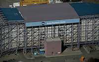 aerial photograph NASA Amses Research Center wind tunnel, Moffett Field, Mountain View, California