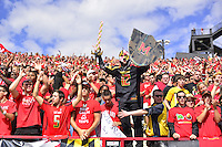 The Terrapin fans cheer from the stands. Ohio State trounced Maryland 52-24 during a game at the Capital One Field in Byrd Stadium, College Park, MD on Saturday, October 4, 2014.  Alan P. Santos/DC Sports Box