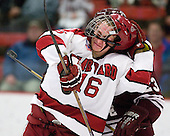 Alex Fallstrom (Harvard - 16) (Wagner) - The Harvard University Crimson defeated the visiting Colgate University Raiders 6-2 (2 EN) on Friday, January 28, 2011, at Bright Hockey Center in Cambridge, Massachusetts.
