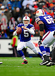30 November 2008: Buffalo Bills' starting quarterback Trent Edwards scrambles in the second quarter against the San Francisco 49ers at Ralph Wilson Stadium in Orchard Park, NY. The 49ers defeated the Bills 10-3. ***** Editorial Use Only ******..Mandatory Photo Credit: Ed Wolfstein Photo