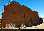 Type IV Masonry Wall, Una Vida Chacoan Great House, Anasazi Hisatsinom Ancestral Pueblo Site, Chaco Culture National Historical Park, Chaco Canyon, Nageezi, New Mexico