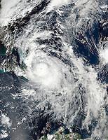 Hurricane Matthew over the Bahamas approaching Florida on October 5, 2016. (NASA-NOAA Suomi NPP)