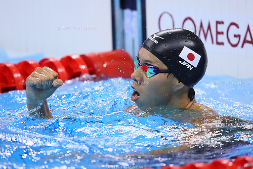 Ippei Watanabe (JPN), <br /> AUGUST 9, 2016 - Swimming : <br /> Men's 200m Breaststroke Semi-final <br /> at Olympic Aquatics Stadium <br /> during the Rio 2016 Olympic Games in Rio de Janeiro, Brazil. <br /> (Photo by Yohei Osada/AFLO SPORT)