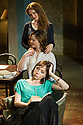 London, UK. 07.04.2014. THREE SISTERS by Anton Chekhov, opena at Southwark Playhouse. Picture shows: Olivia Hallinan (Olga - top), Holliday Grainger (Irina - middle), and Emily Taaffe (Masha - bottom). Photograph © Jane Hobson.