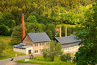 Lippelsdorf, National Park Thueringer Wald, Thueringen, Germany, June 2009. The Ceramics factory of Wagner & Apel used a steam engine until the late 1990's. Many hiking trails such as the famous Rennsteig and the Goldpfad cross the thuringia forest. Photo by Frits Meyst/Adventure4ever.com
