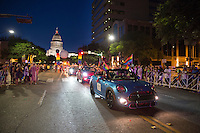 The Austin PRIDE parade marches through downtown Austin Saturday, Aug. 27, 2016. <br /> <br /> Use of this image in advertising or for promotional purposes is prohibited.<br /> <br /> Editorial Credit: Dan Herron / Herronstock Editorial.