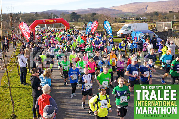 The start of the Kerry's Eye, Tralee International Marathon on Saturday March 16th 2013.