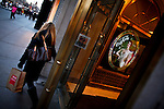 A woman exits from the Coca Cola Company building in 5th Ave. Coca Cola Company management will discuss its final quarterly results for 2011 on February 7th at the New York Stock Exchange, New York, USA.  January 3, 2012. Photo by Eduardo Munoz Alvarez / viewpress