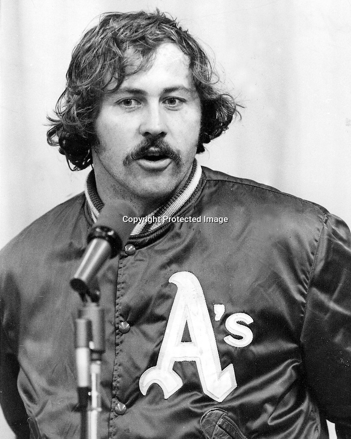 Oakland A's pitcher Jim &quot;Catfish&quot; Hunter.<br />
