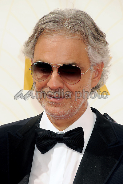 20 September 2015 - Los Angeles, California - Andrea Bocelli. 67th Annual Primetime Emmy Awards - Arrivals held at Microsoft Theater. Photo Credit: Byron Purvis/AdMedia