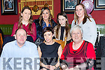 Noelle Foley Newmarket celebrated her birthday with her family in the Porterhouse restaurant on Friday night front row l-r: James, Noelle and Hanna Foley. Back row: Marguerite McGill, Gillian Foley, Rebecca and Laura Tracey  Castleisland