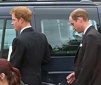 Princes William & Harry attends Victoria Inskip and Rob Jones-Davies Wedding - UK