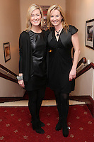"""NO REPRO FEE. 17/1/2010. The Field opening night. Ciara Doherty and Clare Byrneare pictured at the Olympia Theatre for the opening night of John B Keanes 'The Field"""" Picture James Horan/Collins"""