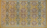 Decorative detail of the original ceiling, in the Ashkenazi Synagogue, built 1902 by Karel Parik in Neo Moorish style on the banks of the river Miljacka, Sarajevo, Bosnia and Herzegovina. Ashkenazi Jews arrived in Sarajevo with the Austro-Hungarian Empire in the late 19th century. The building is a National Monument. Picture by Manuel Cohen