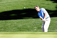 24 January 2009: Celebrity actor Kurt Russell chips the ball on the 7th hole at Palmer Private at PGA West in La Quinta, California during the fourth round of play at the 50th Bob Hope Chrysler Classic, PGA golf tournament.
