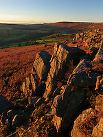 The little known gritstone edge of Carhead Rocks lies tucked below the more famous Stanage in Derbyshire's Peak District