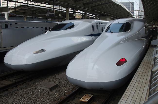 Shinkansen high speed trains at Tokyo Station