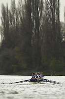 London, GREAT BRITAIN. Oxford Trail VIIIs.Oxford trail eight 'Health' moves over to take the shelter along Dukes Meadows. . Rowing Course: River Thames, Championship course, Putney to Mortlake 4.25 Miles Varsity: Boat Race  [Mandatory Credit: Peter Spurrier: Intersport Images]