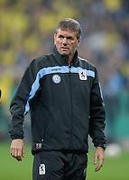 FUSSBALL   DFB POKAL 1. RUNDE   SAISON 2013/2014 TSV 1860 Muenchen - Borussia Dortmund         24.09.2013 Trainer Friedhelm Funkel (1860 Muenchen) nachdenklich