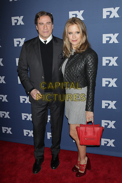 NEW YORK, NY - MARCH 30: John Travolta and Kelly Preston at FX Networks Upfront Premiere Screening of &ldquo;The People v. O.J. Simpson: American Crime Story&rdquo; at AMC Empire 25 on March 30, 2016. <br /> CAP/MPI99<br /> &copy;MPI99/Capital Pictures
