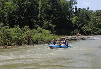 NWA Democrat-Gazette/FLIP PUTTHOFF<br /> Paddlers enjoy a full Buffalo River during a rare summertime opportunity to float its upper miles on July 10 2015.