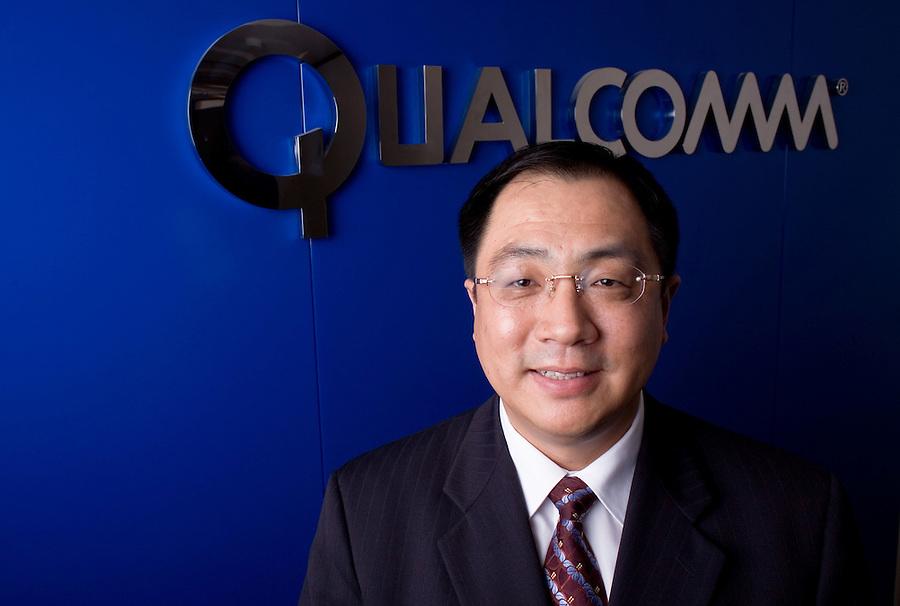 Qualcomm CEO Frank Meng in Beijing.