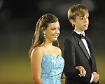 Sophomore maid Linsey Lawrence (left) with escort Addison Rousch at Lafayette High vs. Tunica Rosa Fort in Oxford, Miss. on Friday, October 5, 2012. Lafayette High won 35-6.