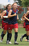 29 July 2006: Lori Chalupny (USA). The United States Women's National Team trained at SAS Stadium in Cary, North Carolina, in preparation for an International Friendly match against Canada to be played on Sunday, July 30.