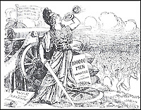 BNPS.co.uk (01202 558833)<br /> Pic: CardiffUniversity/BNPS<br /> <br /> 'A Call To Arms' 16 August 1914, depicts the figure of Britannia calling upon the Home Nations.<br /> <br /> The wartime cartoons of one of Britain's most popular 20th century cartoonists', which inspired millions of people, have emerged.<br /> <br /> Joseph Morewood Staniforth produced more than 1,300 cartoons during the First World War for the News of the World and the Western Mail in Wales.<br /> <br /> His most memorable cartoons included a rousing call to arms following Lord Kitchener's plea for recruits, Winston Churchill dressed as a bargeman after the failed Dardenelles campaign and Kaiser Wilhelm II of Germany depicted as a beggar. <br /> <br /> In another cartoon he paid homage to William Shakespeare and he even created his own Welsh war hero, Dai Pepper, who captured a German dugout wearing a coal miner's 'curling box' instead of a helmet.<br /> <br /> Following his death in 1921, he was described by Prime Minister Lloyd George as 'one of the most distinguished cartoonists of his generation' whose patriotic cartoons had 'rendered a great national service'.