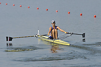 Brest, Belarus. RUS. BLW1X,  Mayya REZNIKOVA, as the  the start.  2010. FISA U23 Championships. Thursday,  22/07/2010.  [Mandatory Credit Peter Spurrier/ Intersport Images]