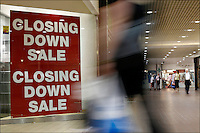 Commercial retail shop closing down, Bath, England.