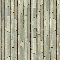 Bamboo, a natural stone mosaic shown in Emperador Dark (polished) and Verde Luna (honed), is part of the Metamorphosis Collection by Sara Baldwin for New Ravenna Mosaics.