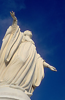 Atop TERRAZA BELLAVISTA in the SANCTURARY OF THE IMMACULATE CONCEPTION is the statue of  VIRGIN MARY - SANTIAGO, CHILE