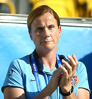 USA's Coach Jill Ellis during the FIFA U20 Women's World Cup at the Rudolf Harbig Stadium in Dresden, Germany on July 14th, 2010.