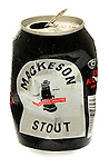 Crushed can of Mackeson Stout - July 2009