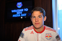 John Rooney (16) of the New York Red Bulls on Media Day at Red Bull Arena in Harrison, NJ, on March 15, 2011.