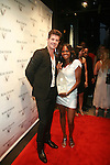 Recording Artist Robin Thicke and Model Georgette Goldson attend The House of Rémy Martin® celebrates the national launch of Rémy Martin® V - the brand's first CLEAR spirit at LAVO, NY  7/12/11