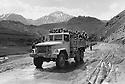 Iraq 1974 <br /> In times of armed struggle,transport of peshmergas by trucks  <br /> Irak 1974 <br /> Au temps de la lutte arm&eacute;e, transport de peshmergas en camion