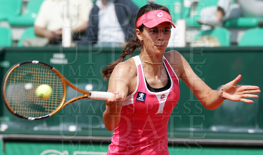 Internazionali d'Italia di tennis a Roma, 14 maggio 2008. Torneo femminile..Italy's Masters tennis women's tournament in Rome, 14 may 2008..Bulgaria's Tsvetana Pironkova..UPDATE IMAGES PRESS/Riccardo De Luca