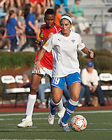 Boston Breakers defender Bianca D'Agostino (19) looks to pass. In a Women's Premier Soccer League Elite (WPSL) match, the Boston Breakers defeated Western New York Flash, 3-2, at Dilboy Stadium on May 26, 2012.