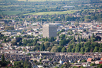 Cheltenham Eagle tower (the 15-storey building is the town's tallest structure and only only sky scraper) and Cheltenham College chapel (at right) of seen from Leckhampton Hill
