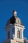The courthouse clock tower in downtown Missoula, Montana