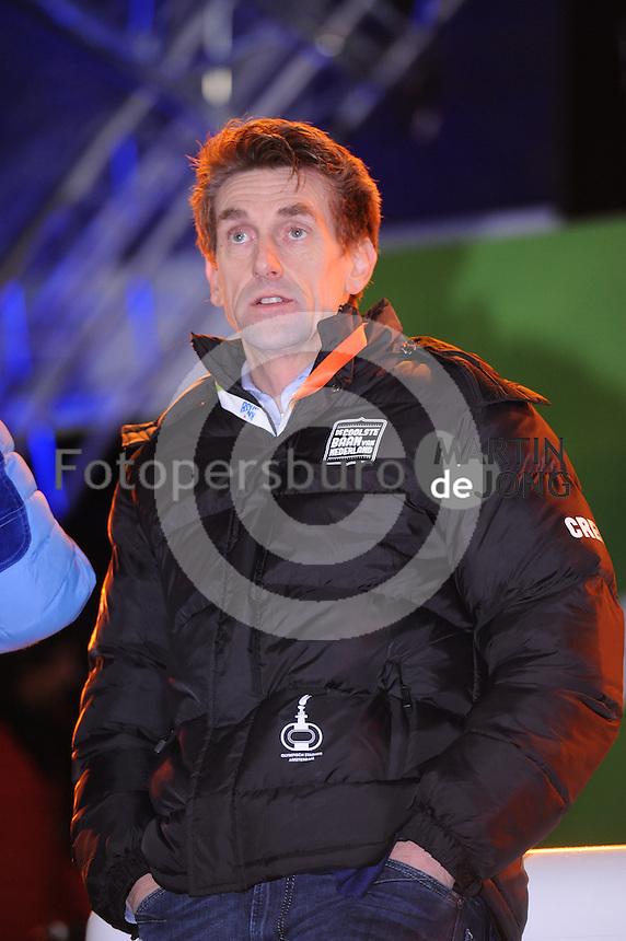 SCHAATSEN: AMSTERDAM: Olympisch Stadion, 01-03-2014, KPN NK Sprint/Allround, Coolste Baan van Nederland, initiatiefnemer Patrick Wouters van den Oudenweijer (House of Sports), ©foto Martin de Jong