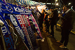 Leicester City 0 Manchester City 0, 29/12/2015. King Power Stadium, Premier League. Scarfs and badges for sale at The King Power Stadium Leicester, before the goalless draw between Leicester City and Manchester City. Photo by Paul Thompson.