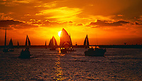 Sailing, Southern California, Beautiful Sunset, Santa Monica Bay, South Bay, SoCal, Panorama, Power Yachts, Transportation