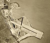 historical aerial photograph San Francisco international airport, SFO, 1946