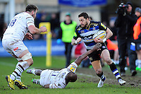 Horacio Agulla of Bath Rugby takes on the London Irish defence. Aviva Premiership match, between Bath Rugby and London Irish on March 5, 2016 at the Recreation Ground in Bath, England. Photo by: Patrick Khachfe / Onside Images